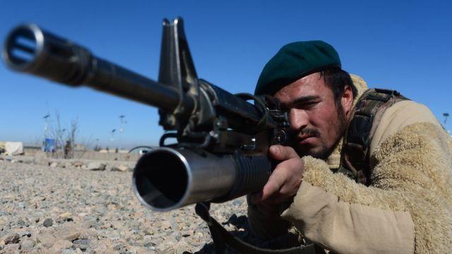 阿富汗政府軍士兵受訓