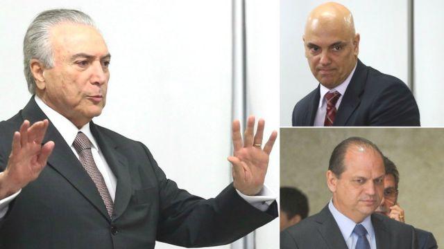 Michel Temer, Alexandre de Moraes e Ricardo Barros