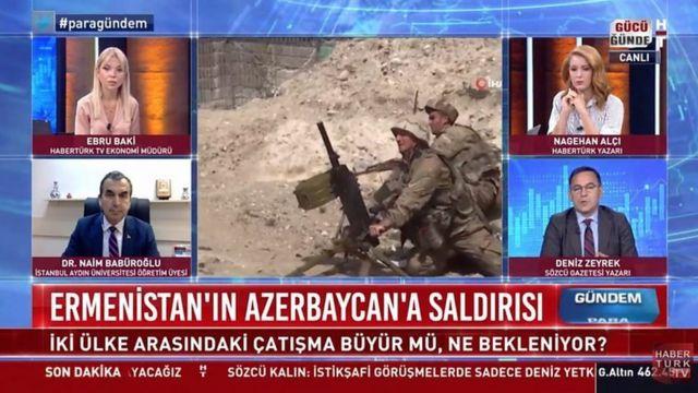 """کارشناسان تلویزیونی ترکیه گفتهاند که درگیریها ناشی از """"حمله ارمنستان به آذربایجان"""" بوده است"""