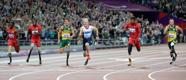 Prueba de atletismo en Londres 2012