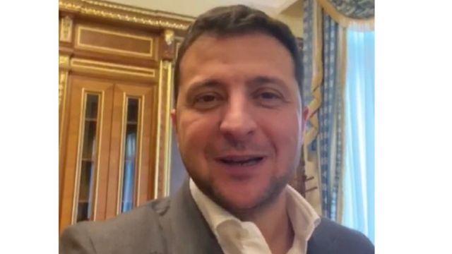 Кадр з відео президента