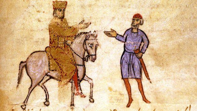 Una pintura de la época bizantina