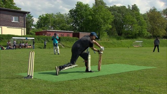 Cricketer playing at Bautzen