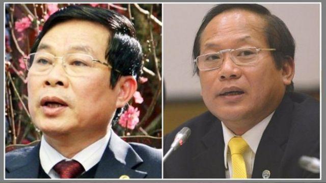 Hai cựu Bộ trưởng Nguyễn Bắc Son và Trương Minh Tuấn