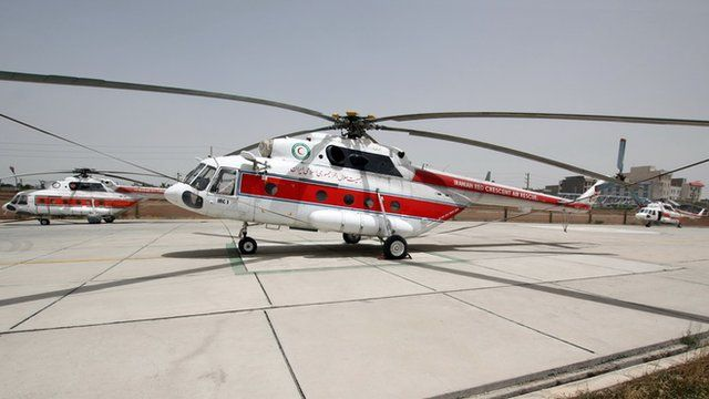 هلیکوپترهای هلال احمر