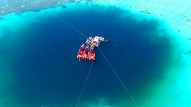 Cómo Es Y Dónde Queda El Hoyo Del Dragón El Socavón Submarino Más Grande Del Mundo Bbc News Mundo