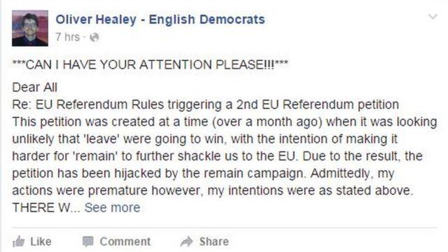 O post de Oliver Healey