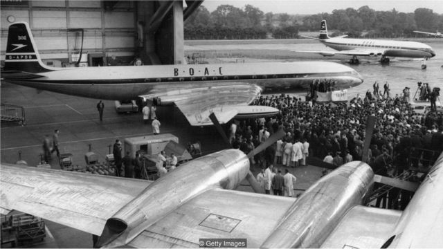 The Comet looked futuristic compared to the propeller-driven airliners of the day