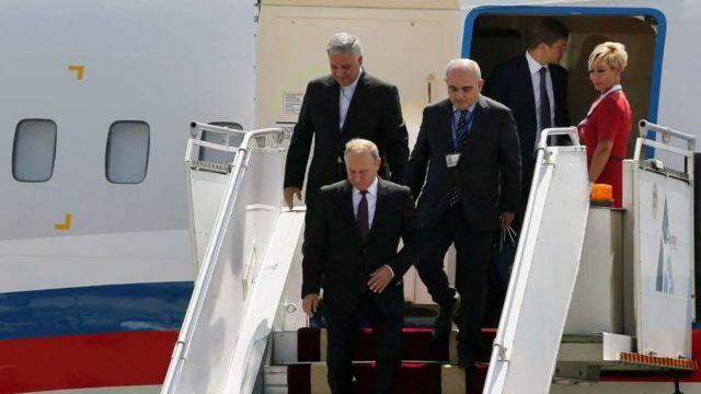 ولادیمیر پوتین امروز وارد تهران شد
