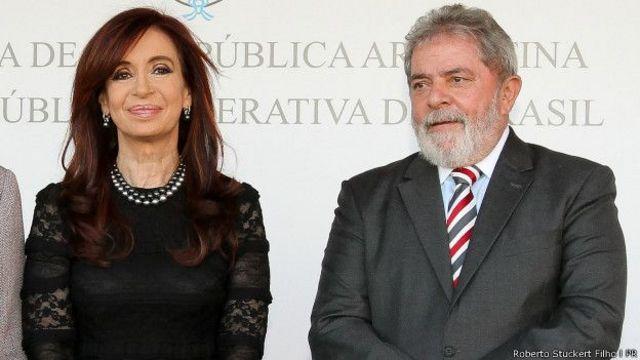 Cristina Kirshner e Lula