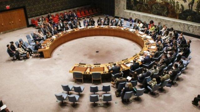 El Consejo de Seguridad de ONU en sesión