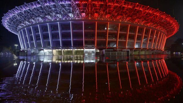 Gelora Bung Karno yang sudah bersolek demi menyambut Asian Games.
