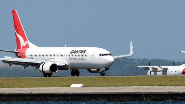 Boeing 737 Qantas di Sydney Airport