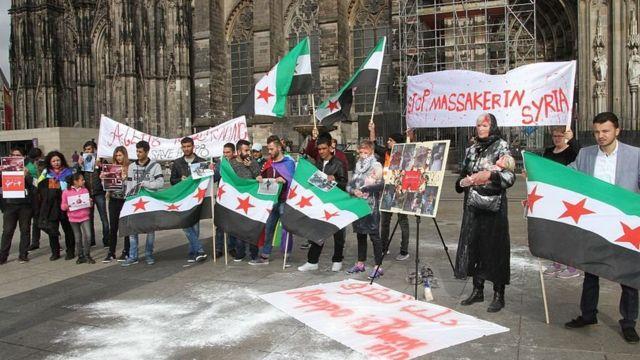 اعتراض به کشتار کودکان سوری، کلن، آلمان
