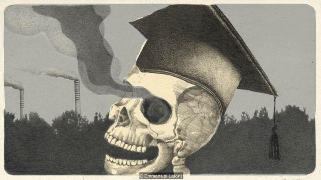 Polusi udara di dalam tengkorak manusia
