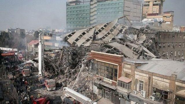 المبنى بعد سقوطة