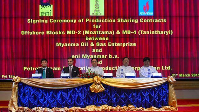 ENI ဟာ၂၀၁၄ခုနှစ် မှာ မြန်မာနိုင်ငံကုန်းတွင်းလုပ်ကွက်တွေကို ဝင်ရောက်လုပ်ကိုင်လာ
