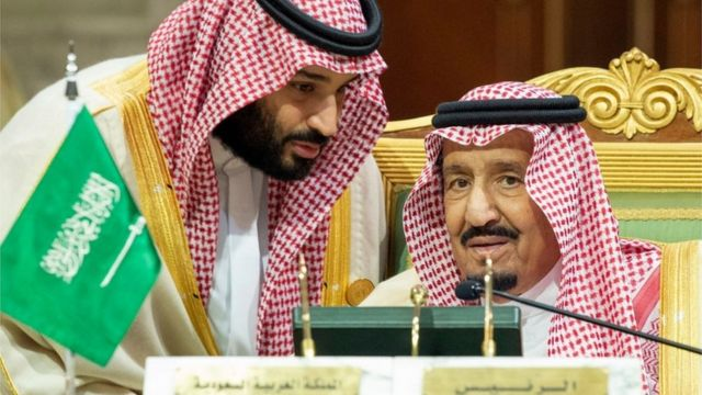 الملك سلمان بن عبد العزيز وولي العهد محمد بن سلمان