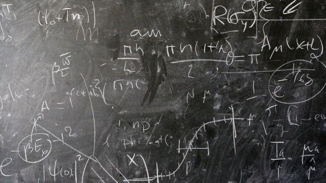 A maths blackboard at CERN