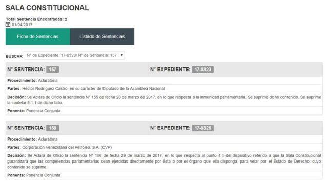 Página web del TSJ