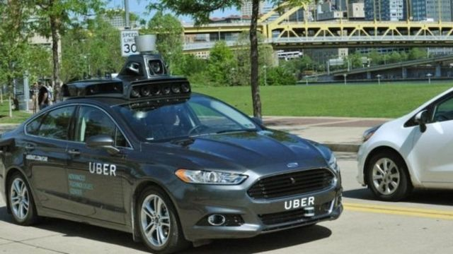 Автомобиль Ford Fusions компании Uber