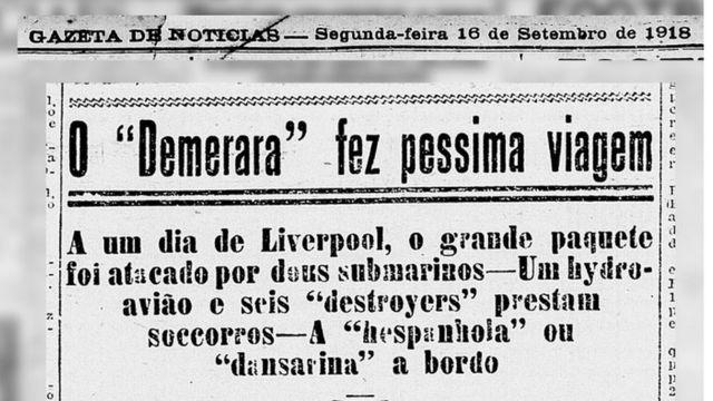 """O jornal Gazeta de Notícias, do Rio de Janeiro, classificou como """"péssima"""" a viagem do Demerara."""