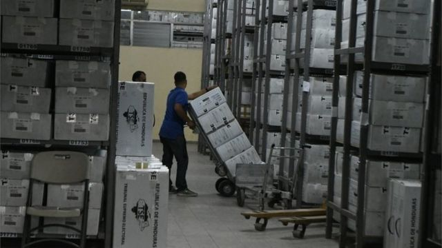 Urnas de votación en Honduras.