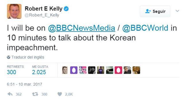 Robert Kelly tuit
