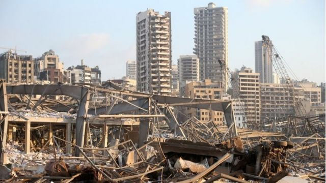 Разрушения в Бейруте