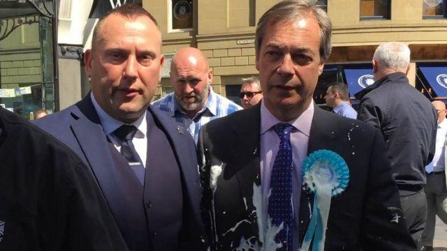 Nigel Farage milkshake attack: Newcastle man told to pay compensation