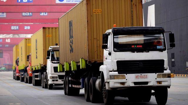 Camiones de transporte en China