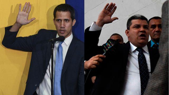 Juan Guaidó y Luis Parra.