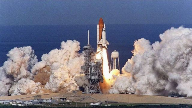 Launch of a NASA space shuttle