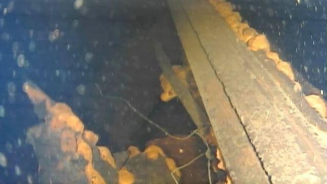Zarar gören reaktörlerden birinin altında lav benzeri kayalar bulundu