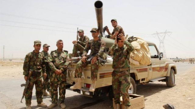 Fuerzas de seguridad kurdas.