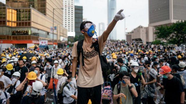 香港在2019年曾发生大型示威活动。
