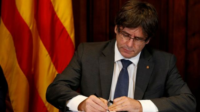 Carles Puigdemont, former leader of Catalonia