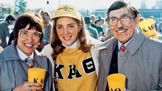 O casal em 1983 junto a sua filha menor, Nina