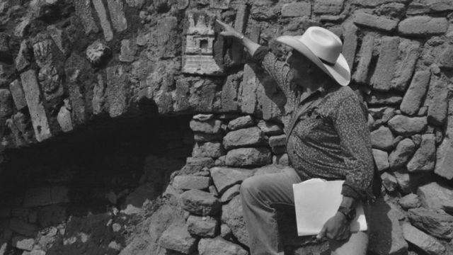Una piedra tallada del Albarradón de Ecatepec