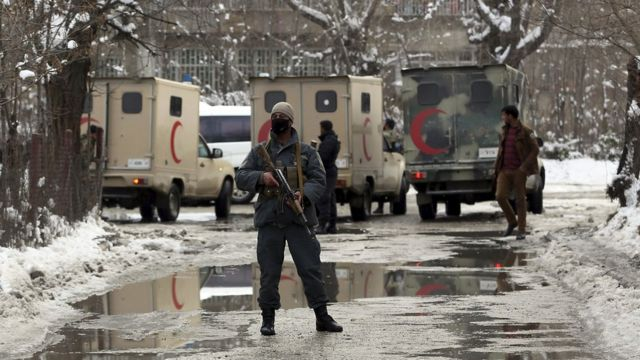 Lokasi serangan bom bunuh diri di Kabul