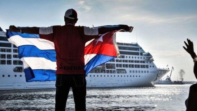 Crucero arribando a Cuba