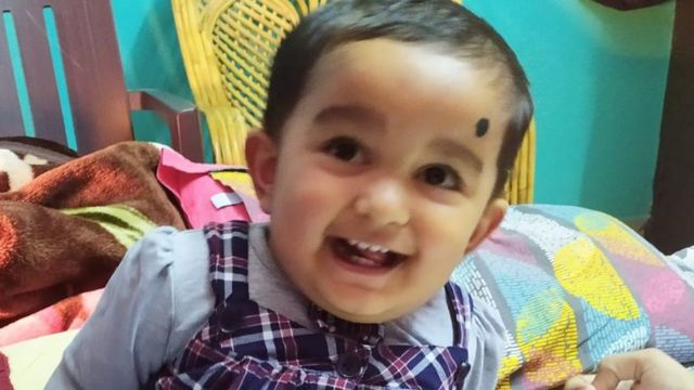 रवि शेखर और एकता की बच्ची