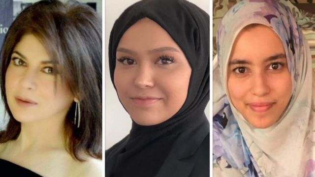 Mishi Khan, Latife Ozdemir and Hiba Mohamed Moussa all support the French goods boycotts