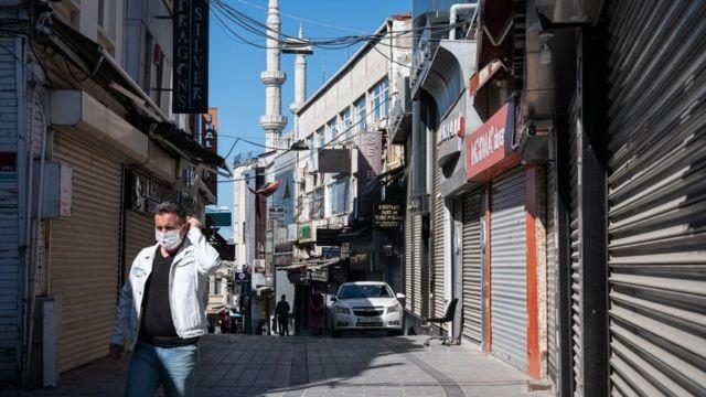 boş istanbul sokakları