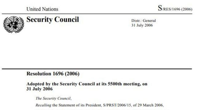 UNSC resolutions