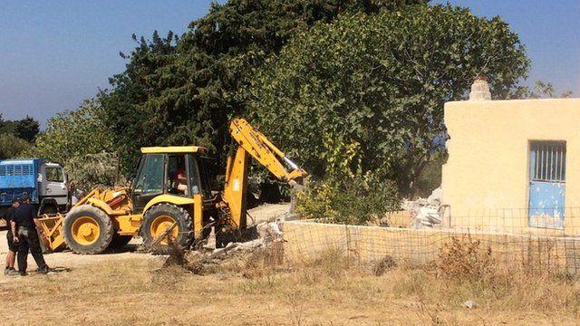 Demolition work in search for Ben Needham