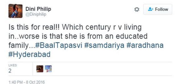 Mensaje de Twitter de @Diniphilip expresando indignación por la noticia de la muerte de la adolescente.