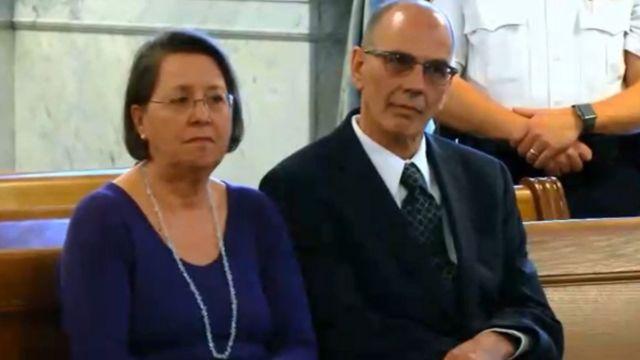 Christina and Mark Rotondo were in court