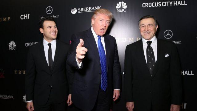 Donald Trump, Emin və Araz Ağalarov