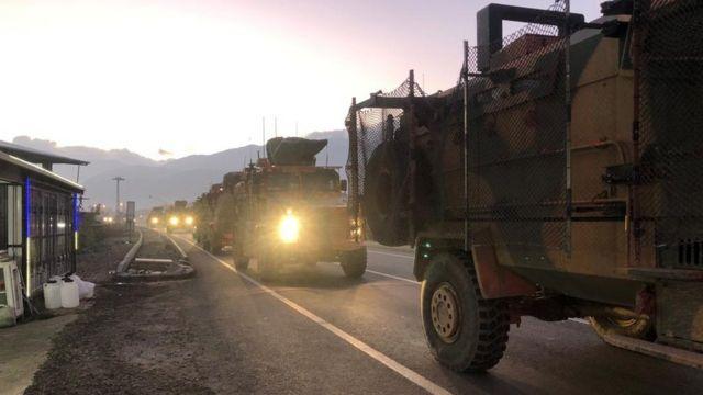 کاوران نظامی ترکیه در مناطق مرزی با سوریه
